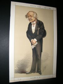 Vanity Fair Print 1873 H. C. Rawlinson, Spy Cartoon